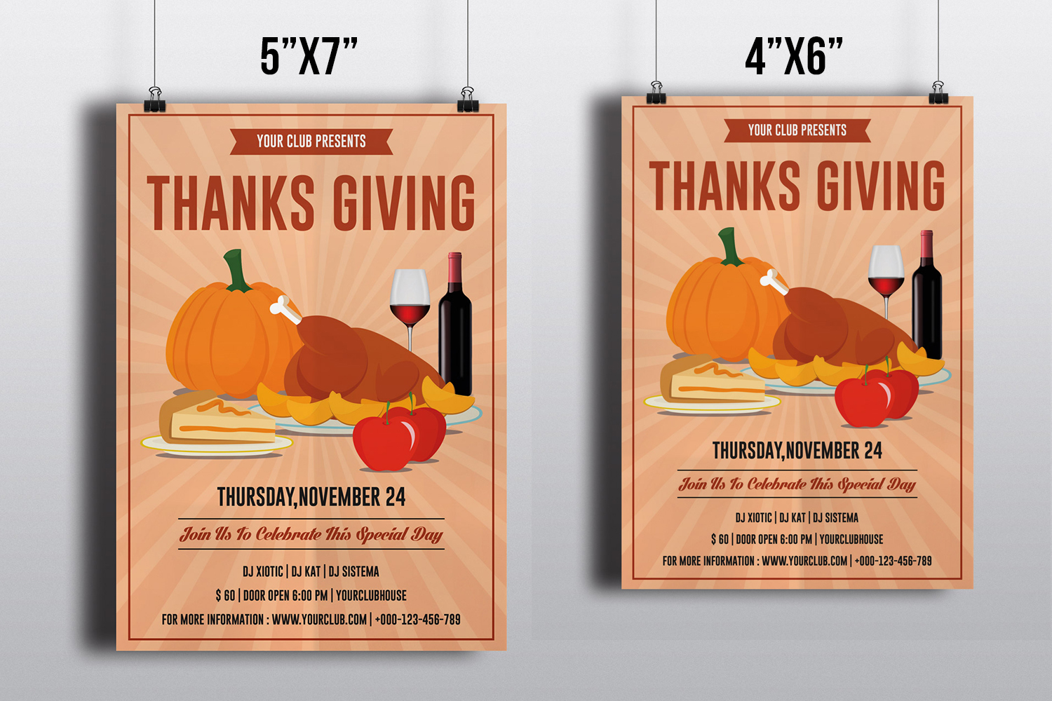 Invitation Flyer Templates On Behance - Thanksgiving party invitation templates