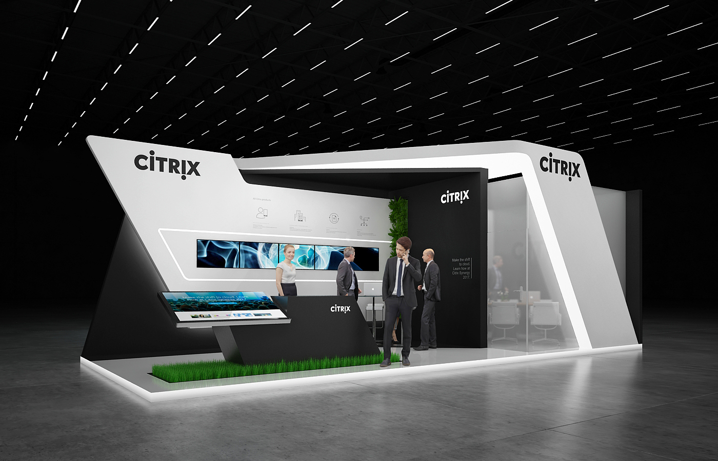 Exhibition Stall On Behance : Citrix exhibition stand on behance