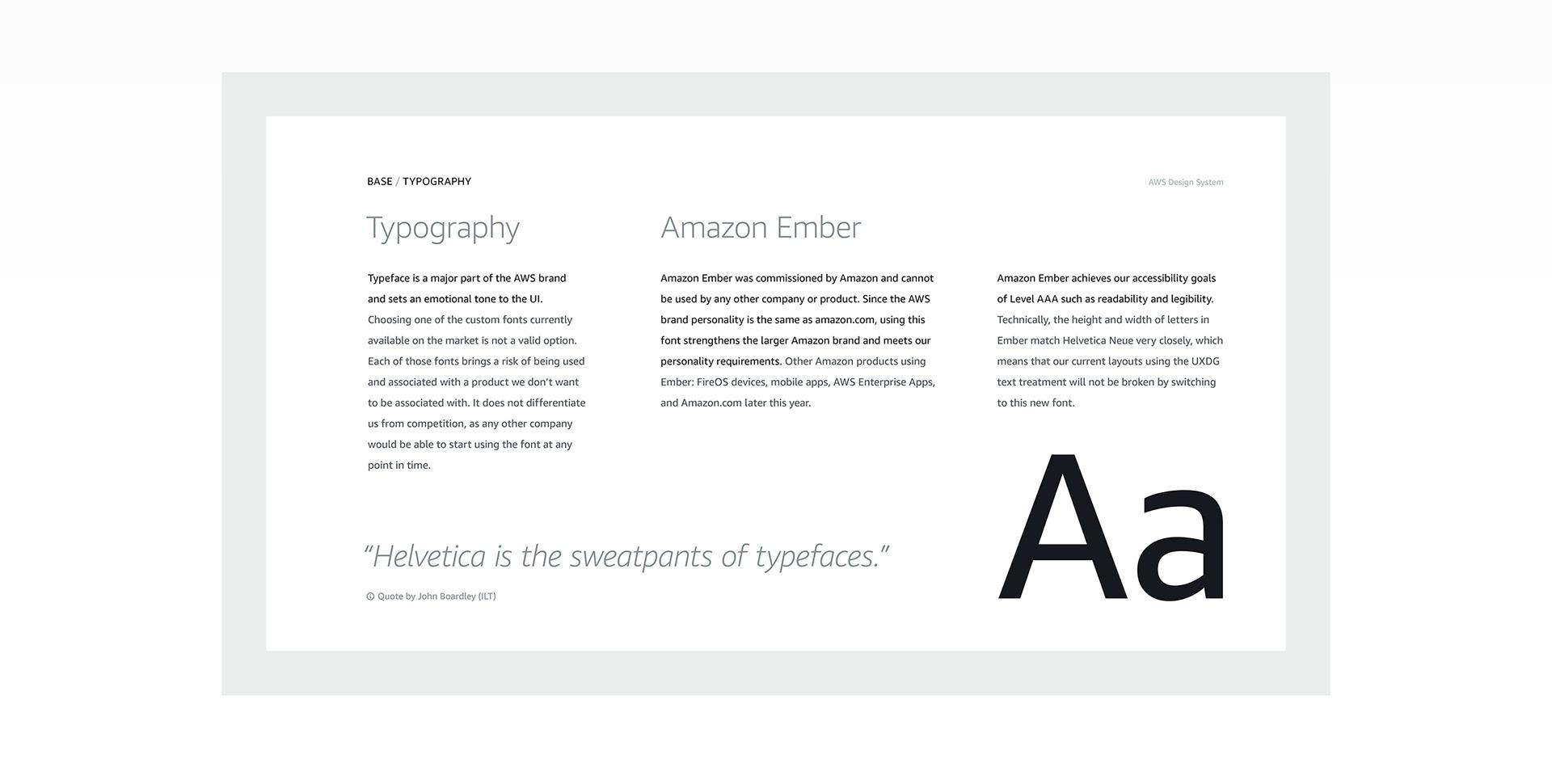 Amazon Web Services: Design System
