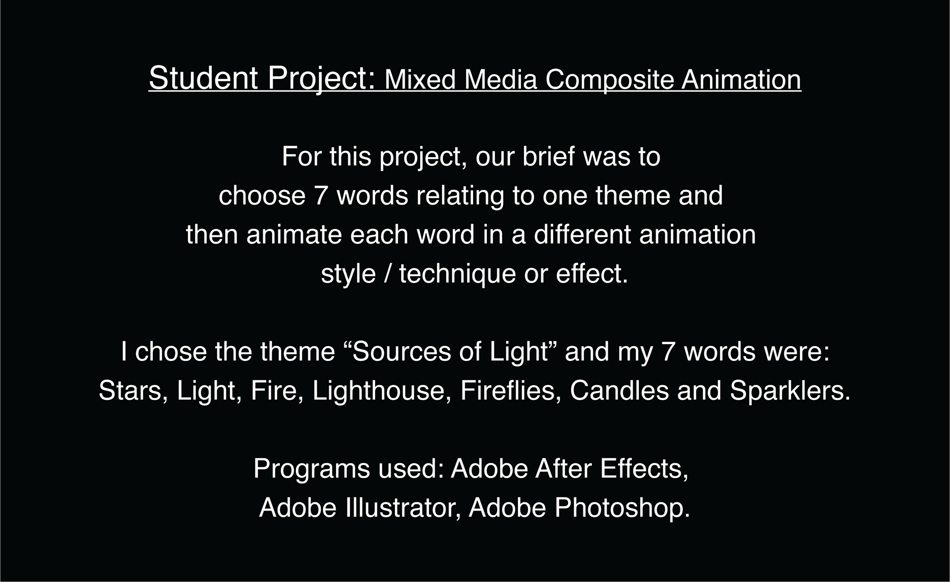 Sources of Light: Student 2D Animation on Behance