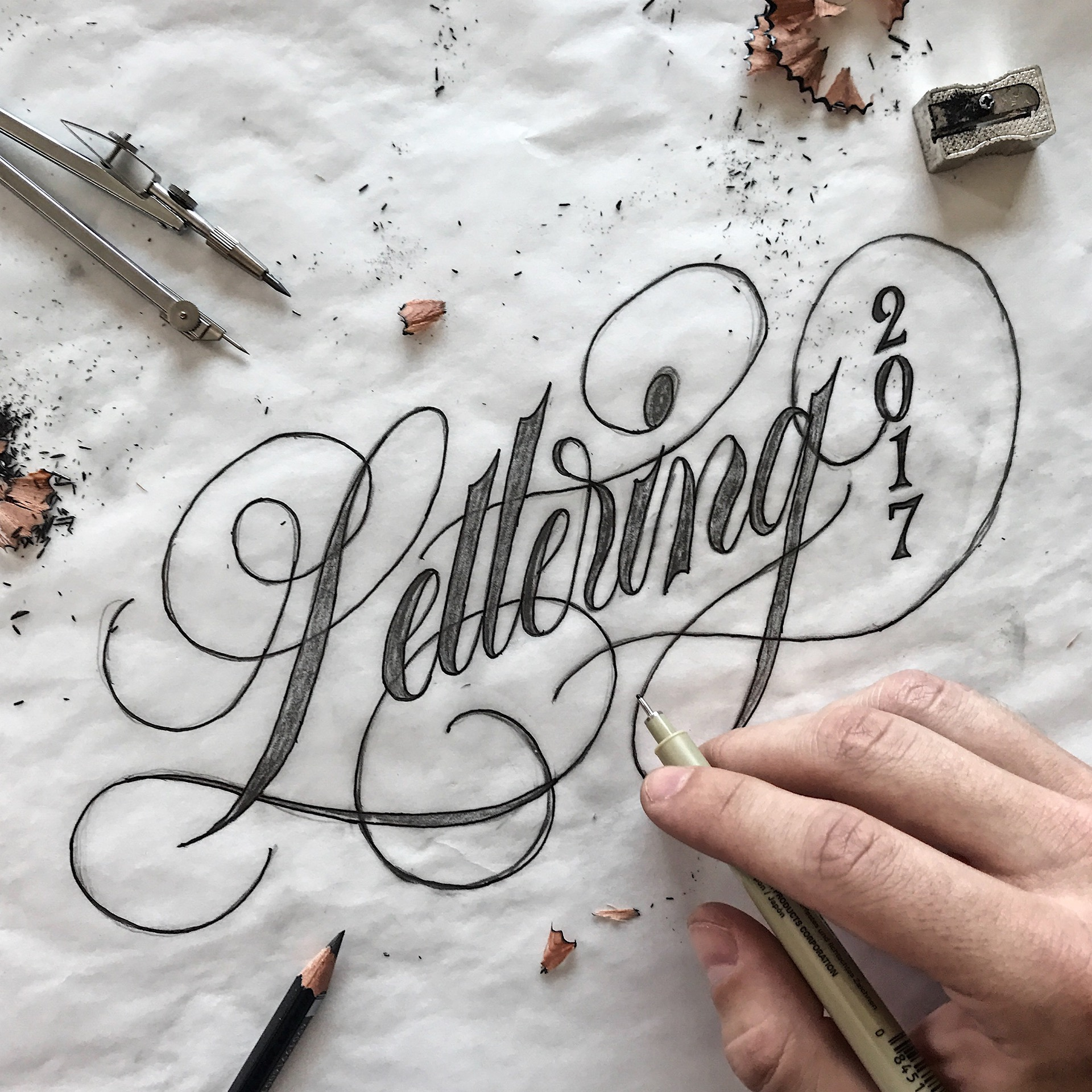 Collection of calligraphy lettering by michael