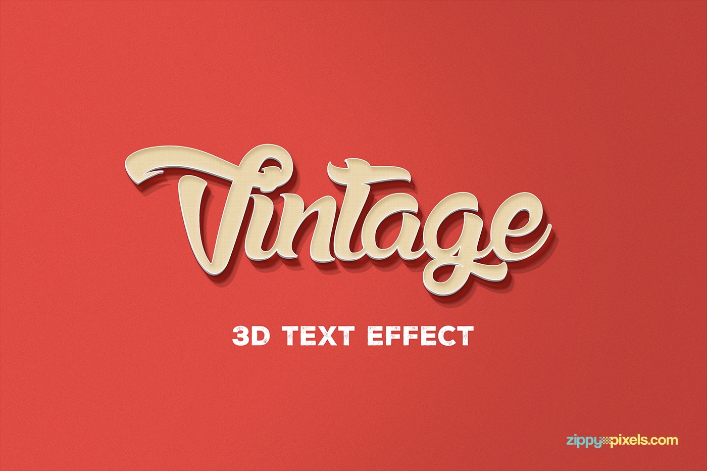 Vintage themed free psd 3d text effect on behance.