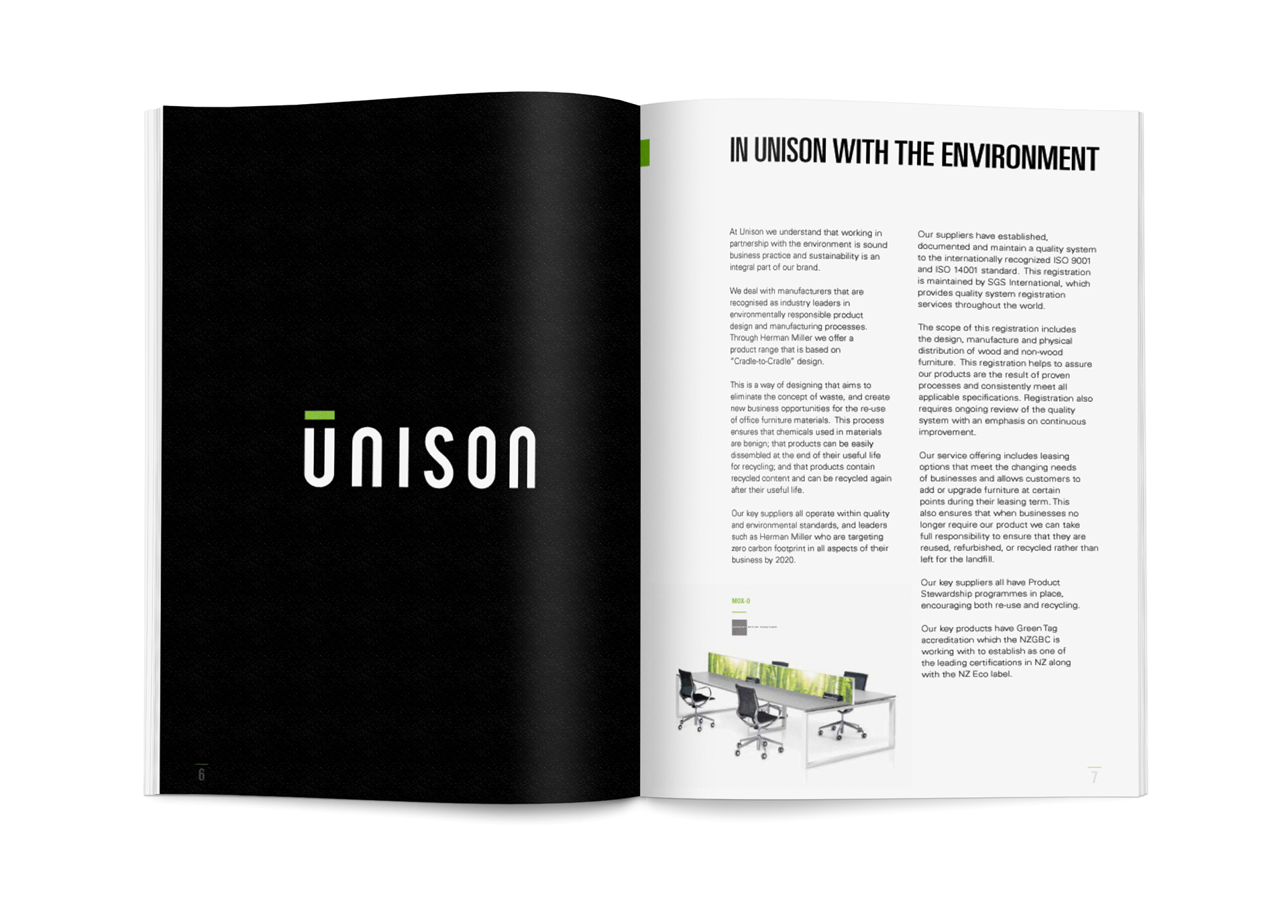 UNISON Workspaces Brand Booklet on Behance