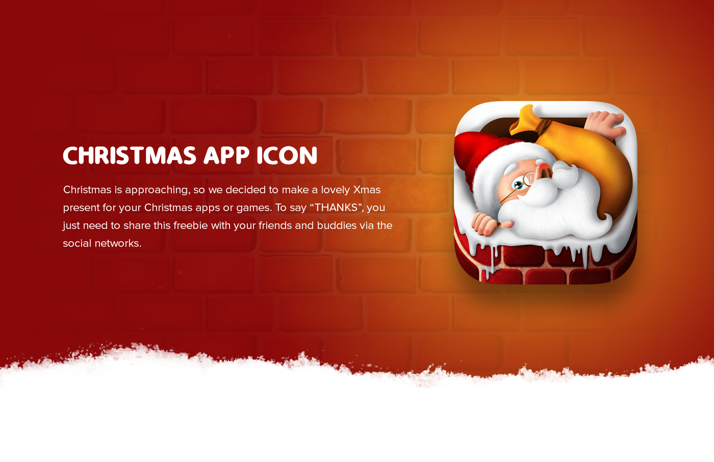 FREE PSD CHRISTMAS APP ICON on Behance