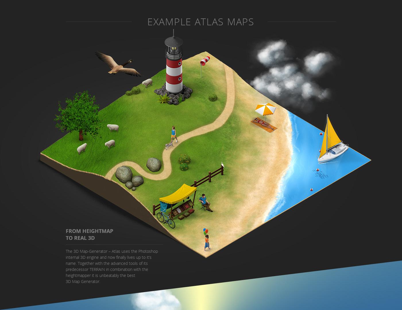 3D Map Generator - Atlas on Behance