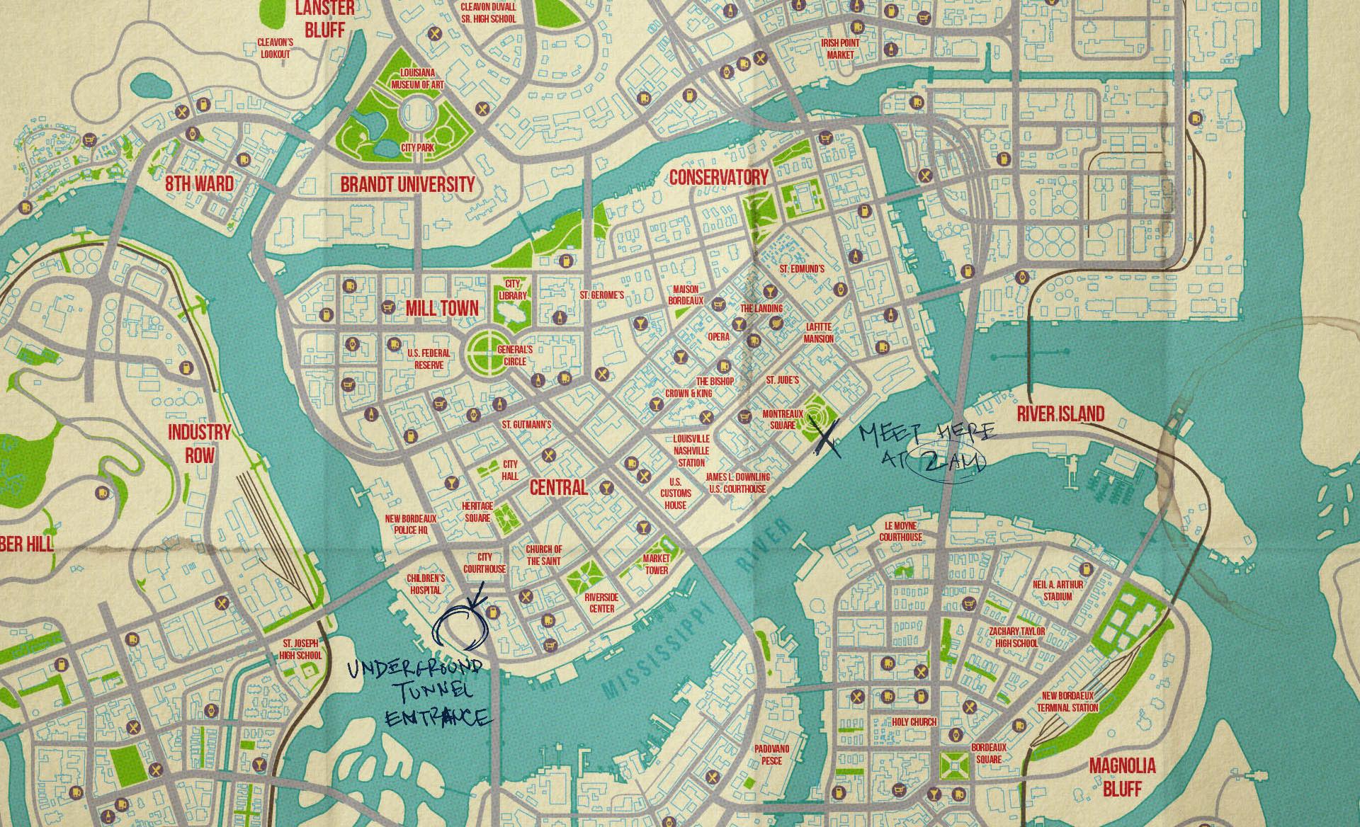 Paul Rand Pierce Freelance Game UI UX Designer MAFIA III World Map - World map 3