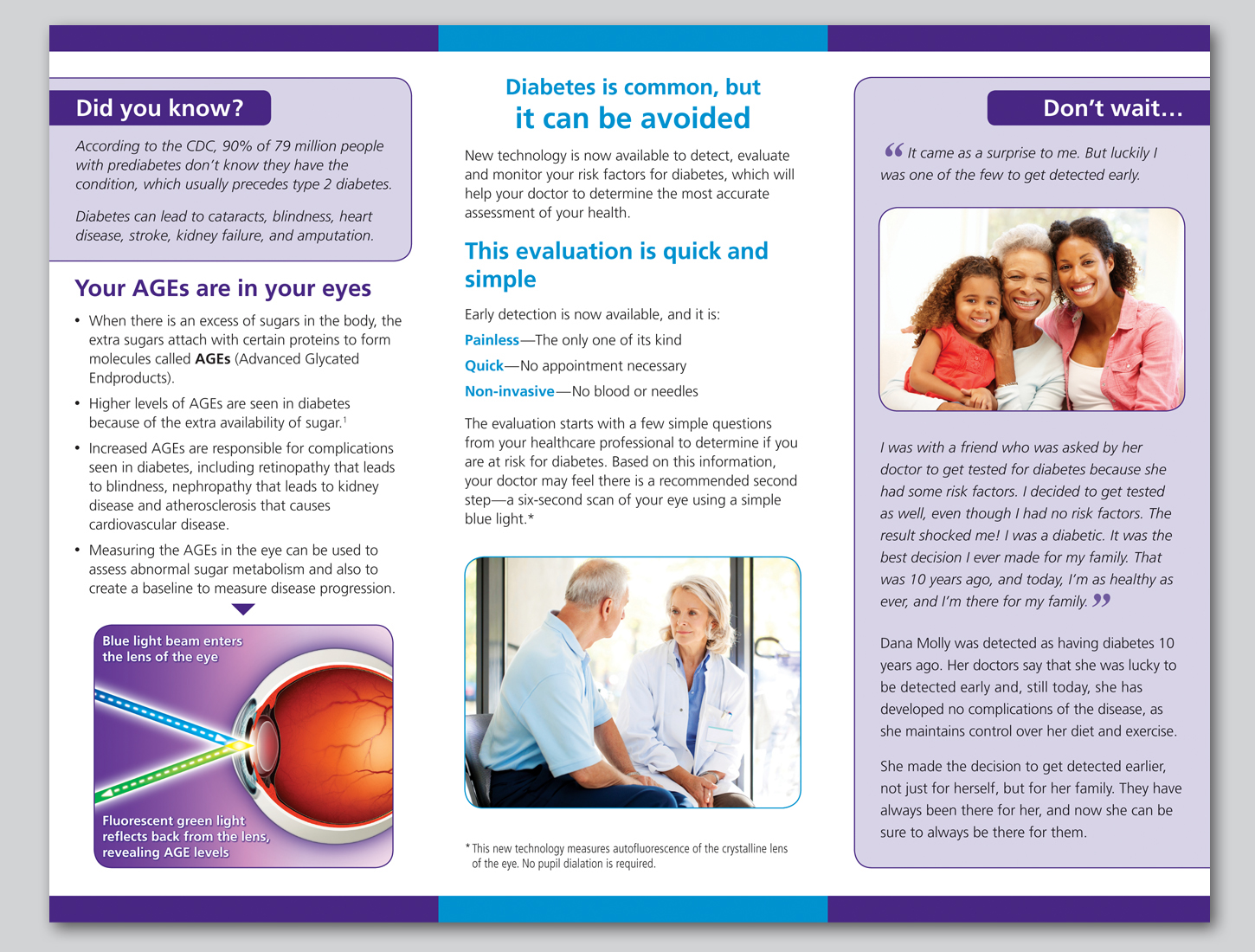 early diabetes detection patient brochure on behance