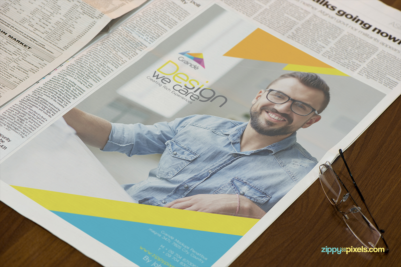 newspaper advertising mockups vol 1 on behance