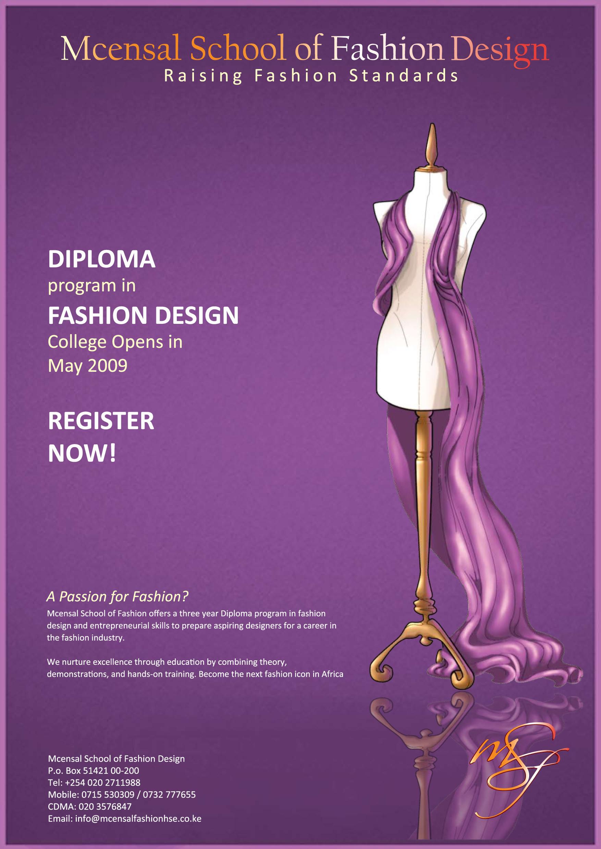 Mcensal School Of Fashion Design On Behance