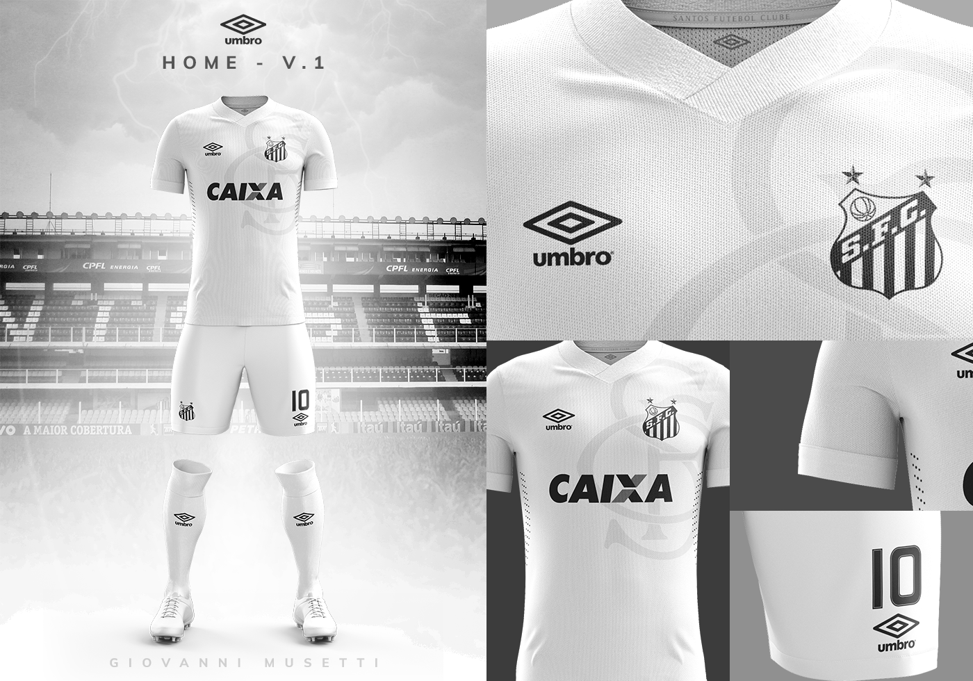 Santos F.C. - Umbro Concept Kit 2018. Giovanni Musetti •. Follow Following  Unfollow. Save to Collection 2f6ba293b