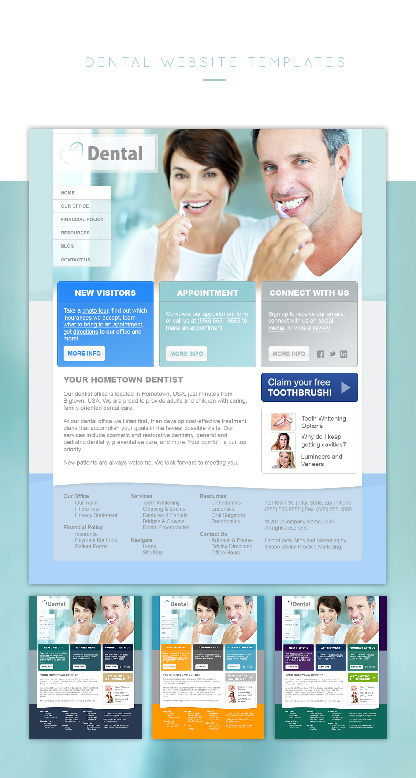 Katie Schmidt Design Portfolio Dental Website Templates Concepts