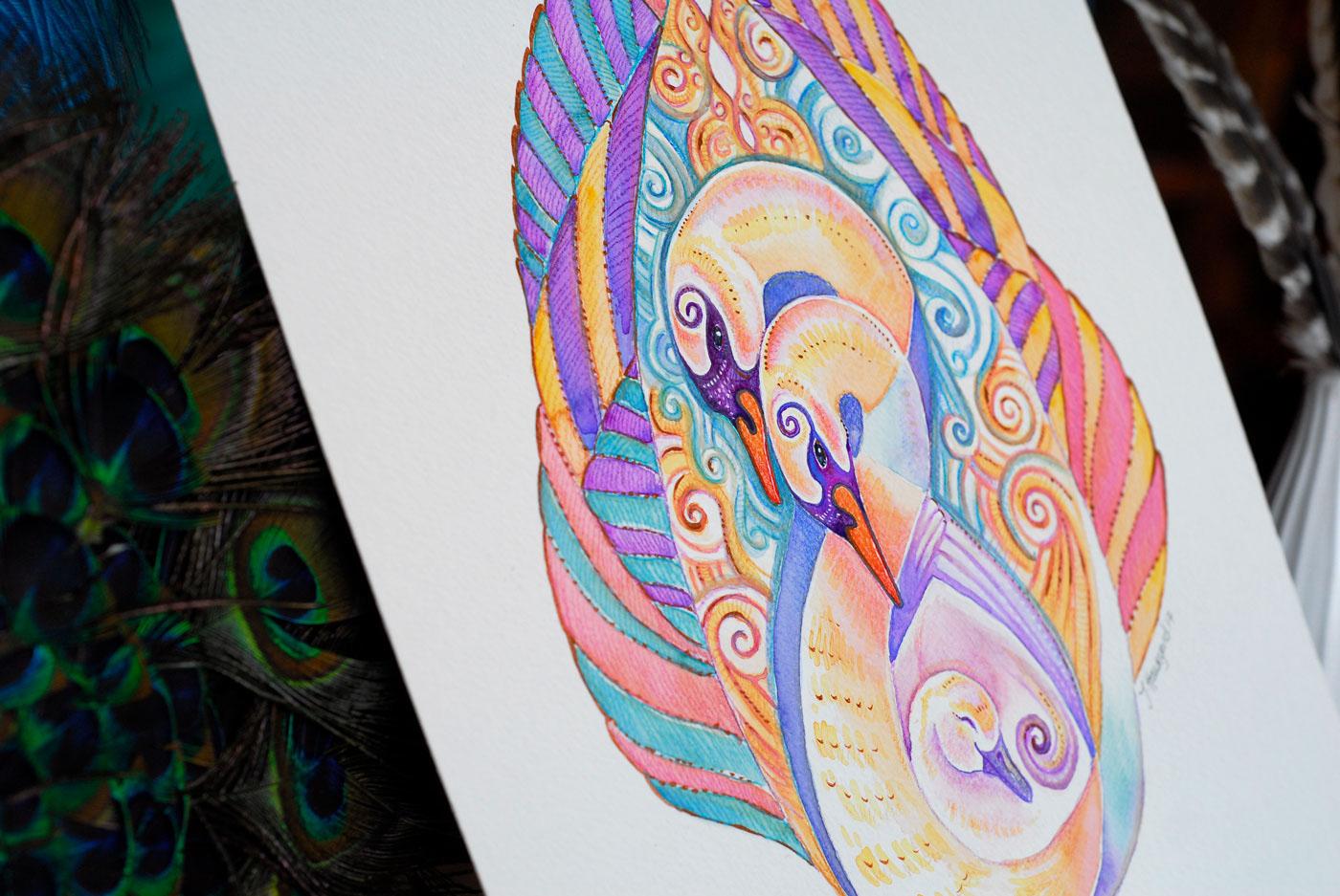 Swan Totem by Jennifer Hawkyard