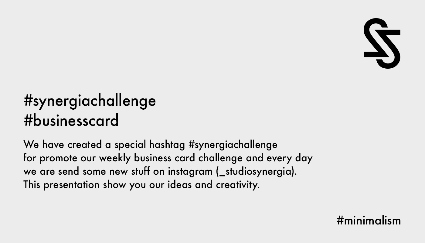 Business card challenge #synergiachallenge on Behance