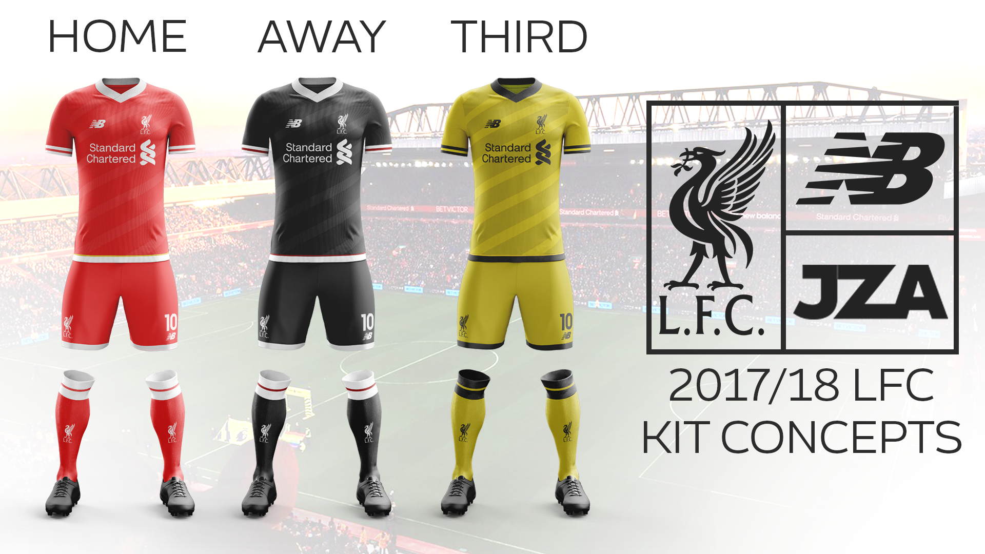 the best attitude e6cf9 eb163 Liverpool FC 17/18 Kit Concepts on Behance