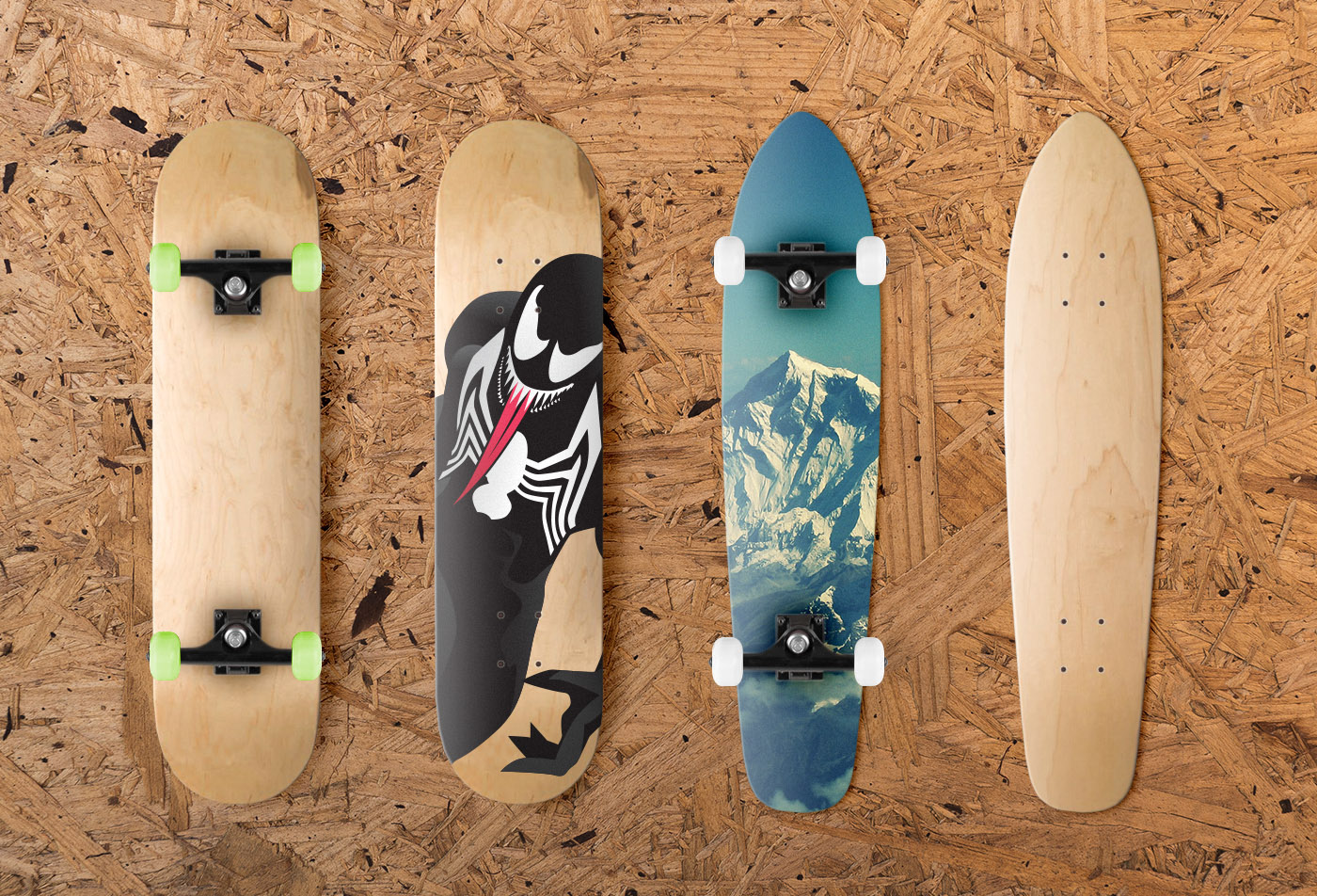 skateboard mockup free download on behance