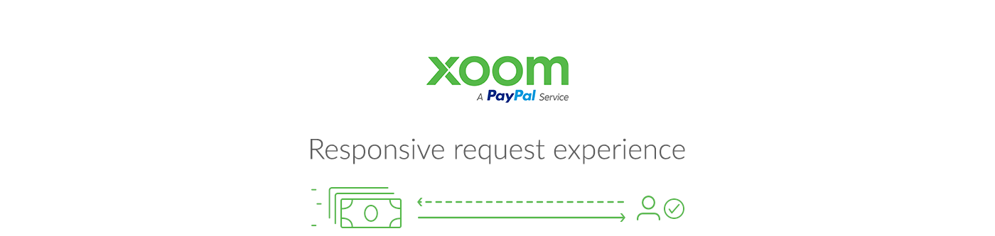 Xoom request experience on Behance