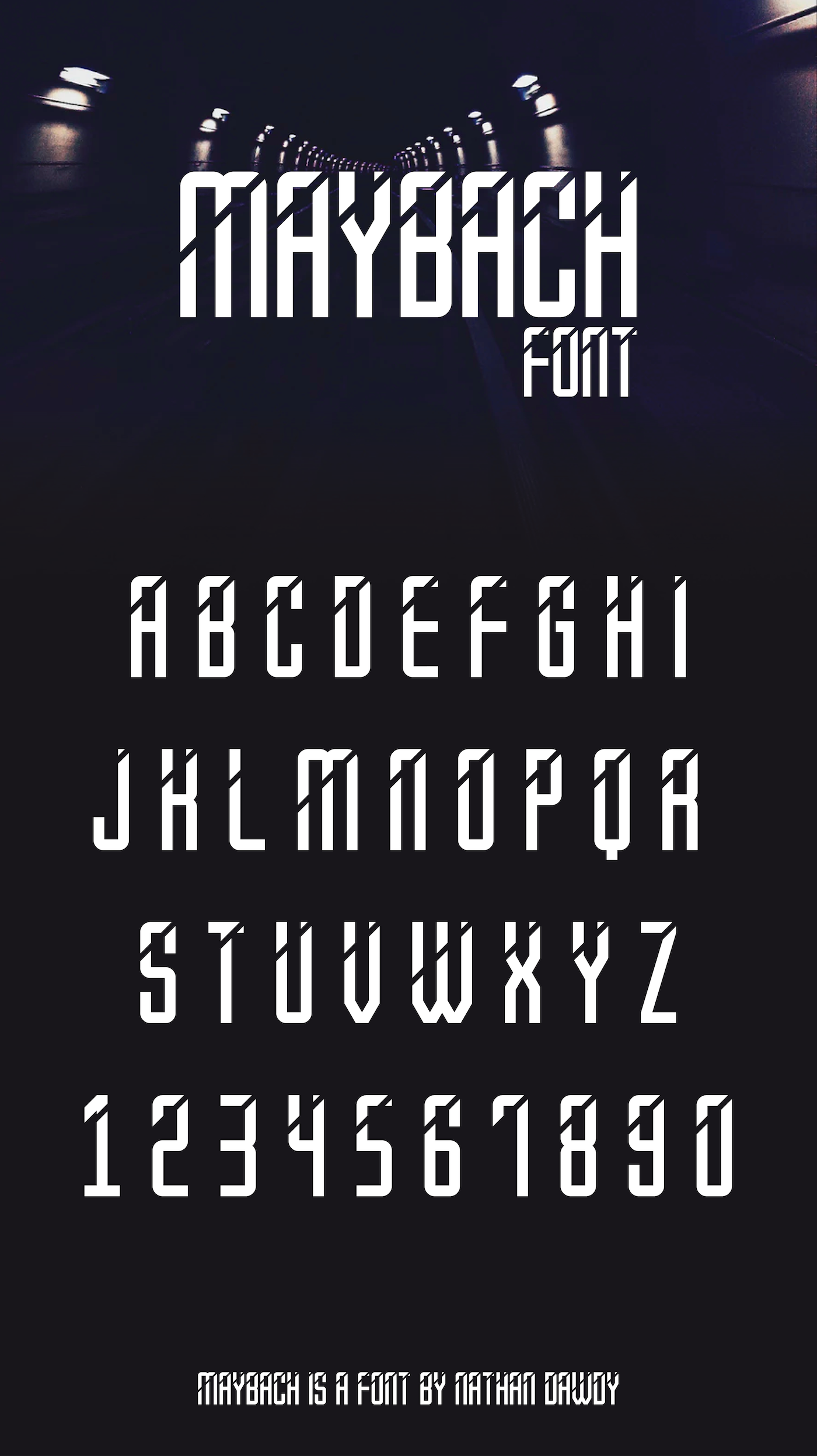 maybach font on behance