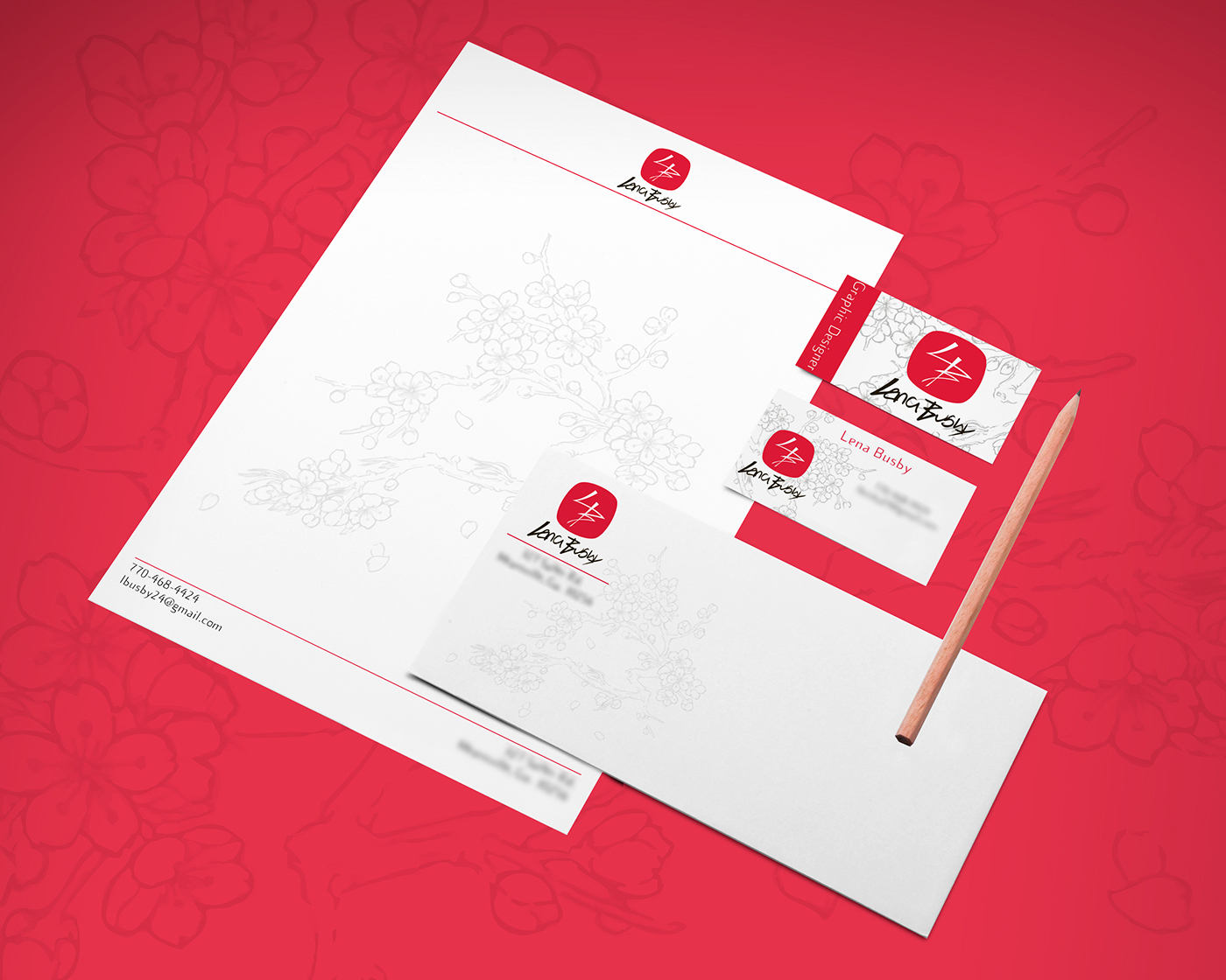 personal stationery and logo design lena busby on behance