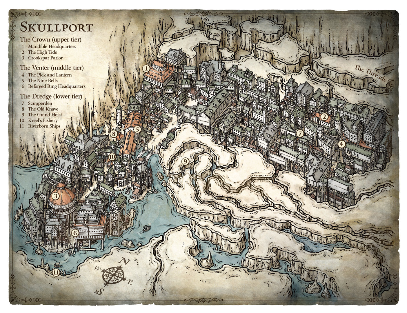Map of Skullport