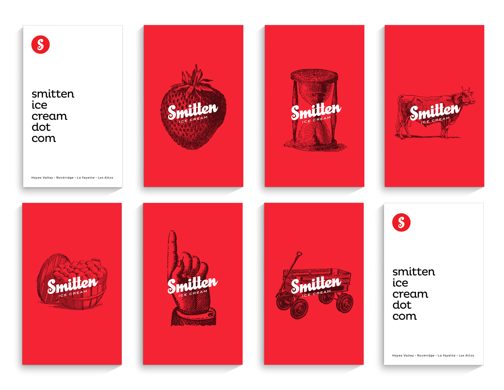 Smitten Ice Cream Rockridge smitten ice cream rebrand on behance