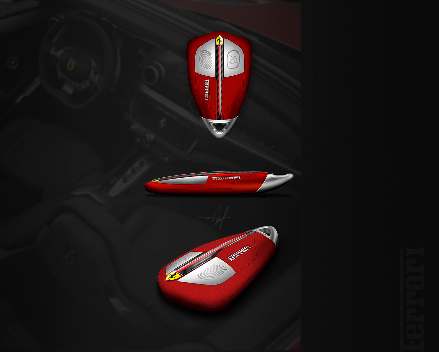 Ferrari Smart Key Concept Design On Behance