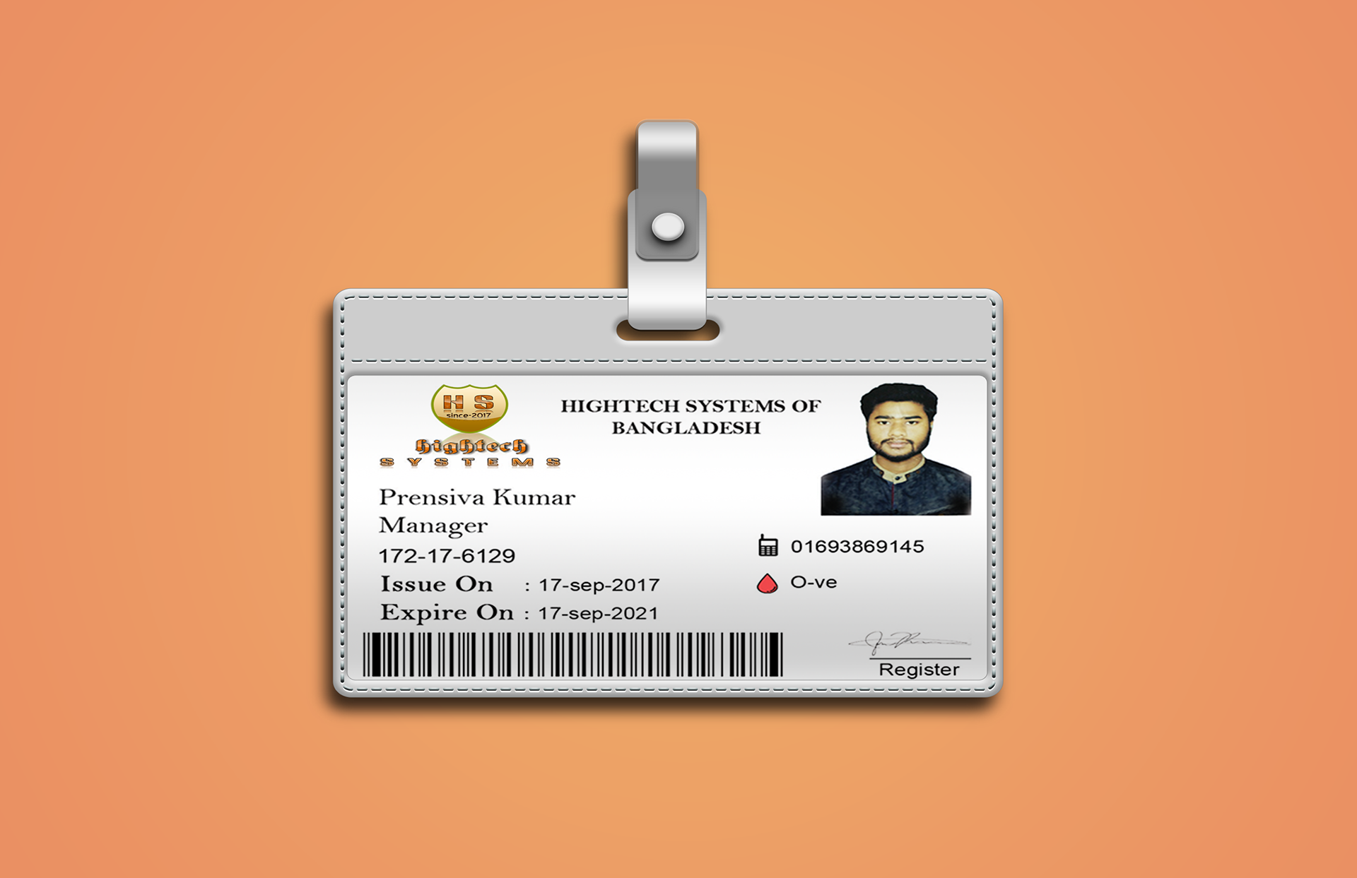 ID Card Design For HSBD on Behance For Shield Id Card Template