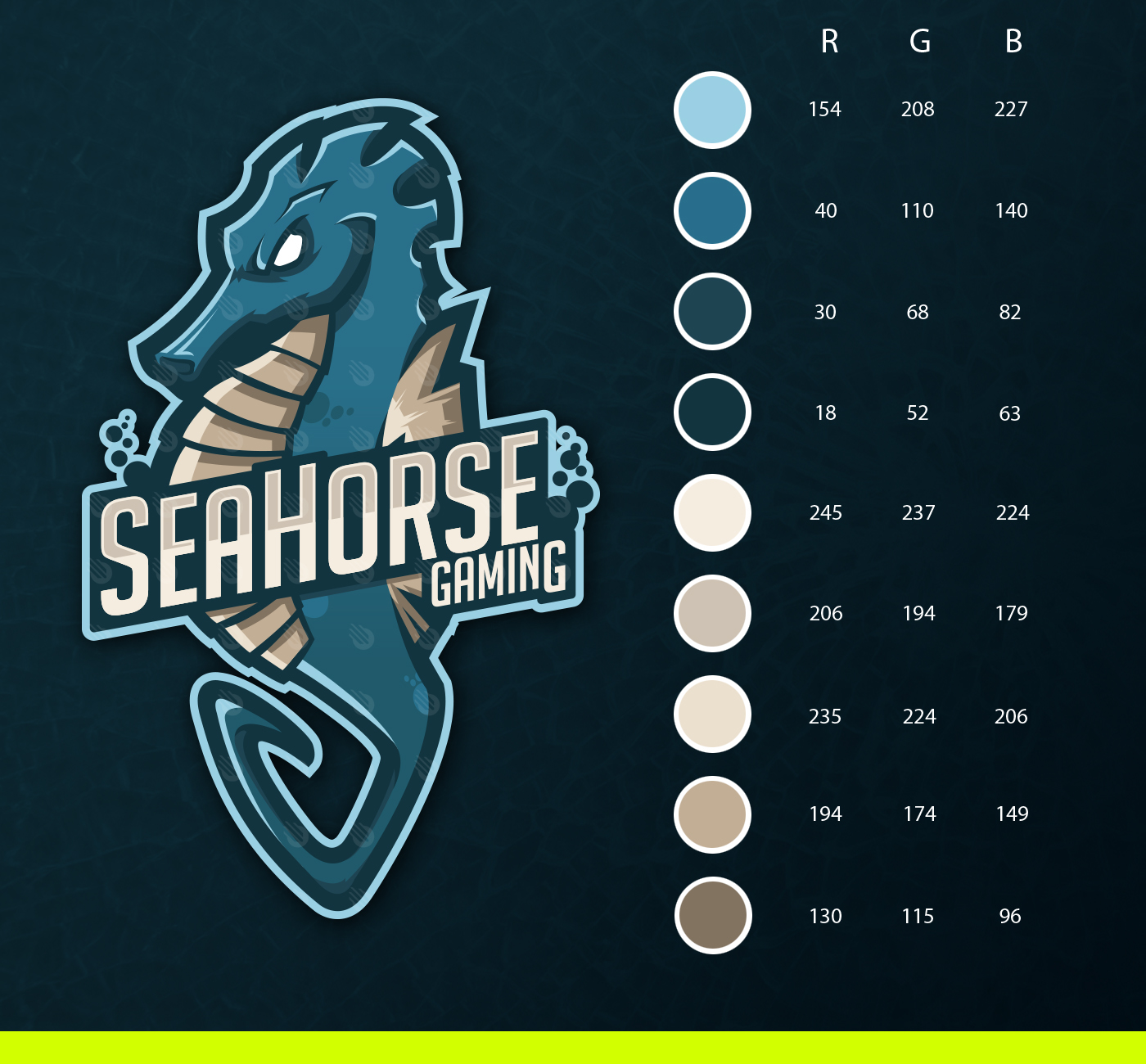 Seahorse Gaming Mascot Logo On Behance