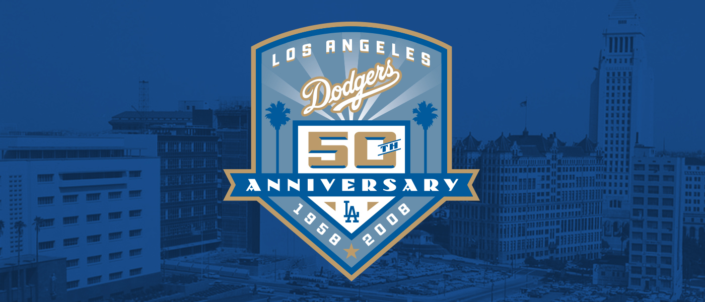 Los Angeles Dodgers 50th Anniversary Logo On Behance