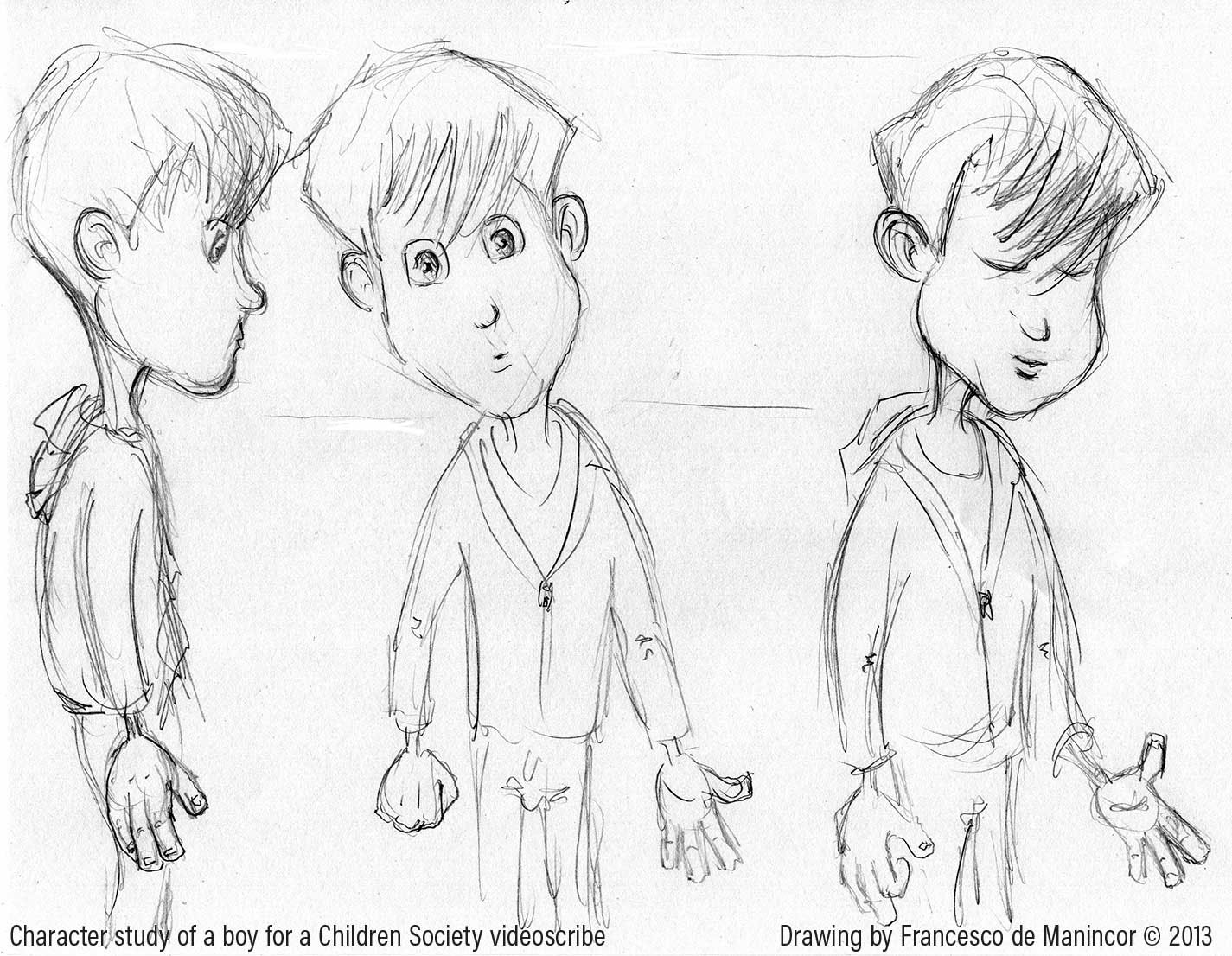 Character study of a boy for a Children Society project