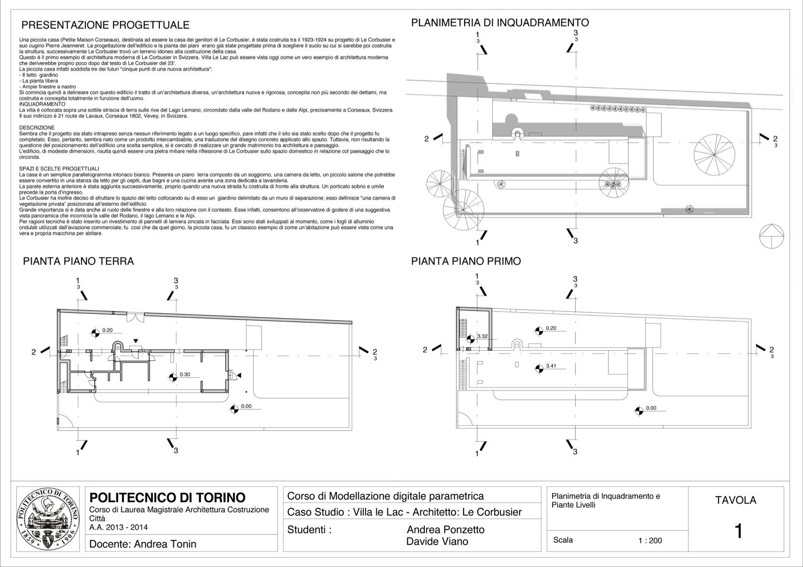 Revit Project La Petite Maison Le Corbusier On Behance