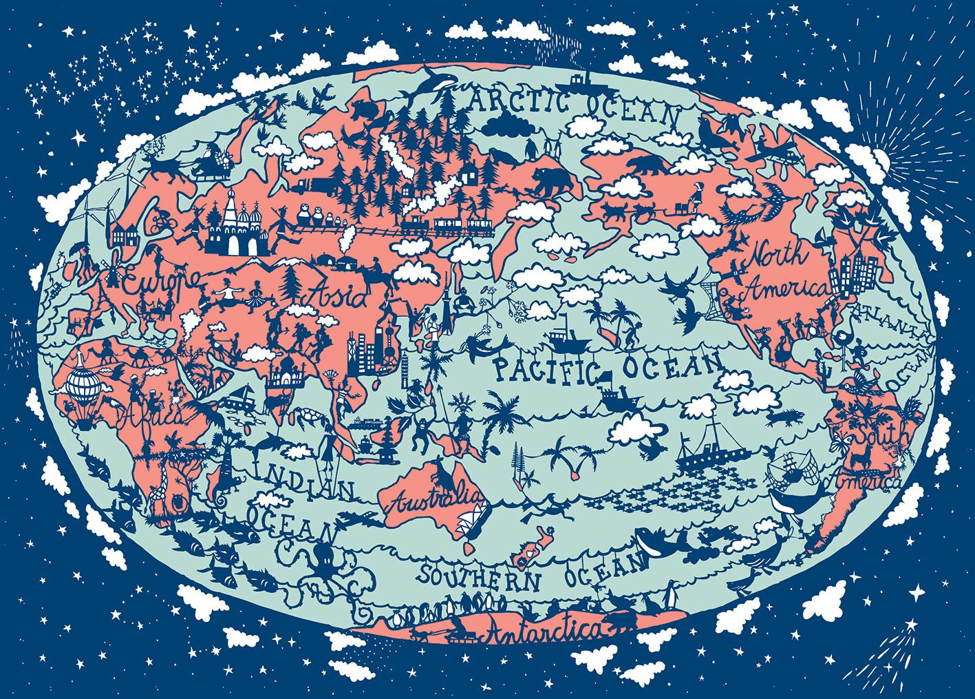 Julie Marabelle WORLD MAP ISSEY MIYAKE - World map please