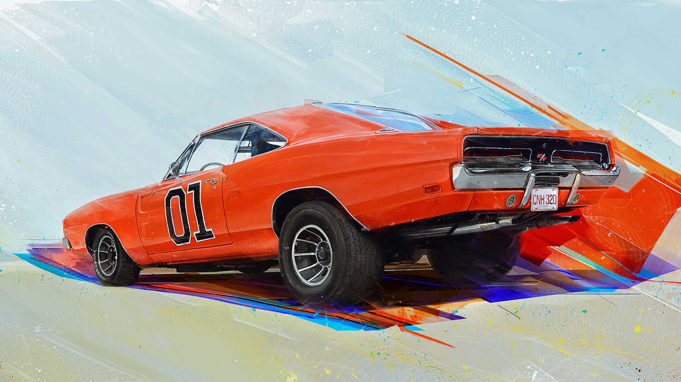 Muscle Car Art On Behance - Muscle car