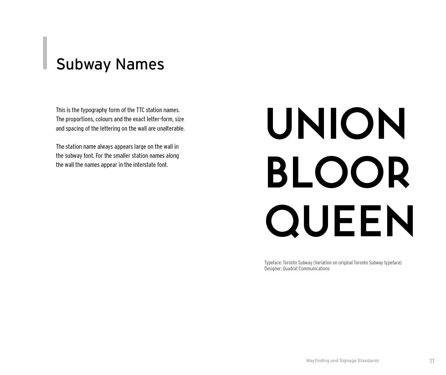Toronto Transit Commission Signage Brand Manual on Behance