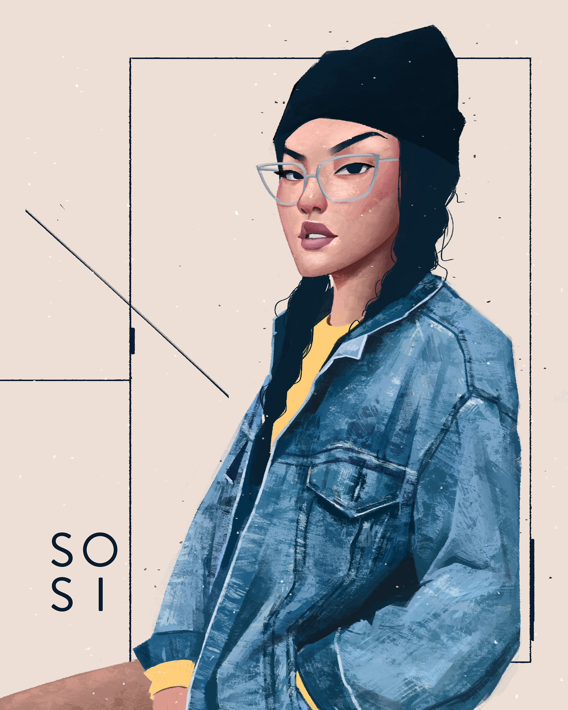 Voguish Portrait Illustrations by Janice Sung