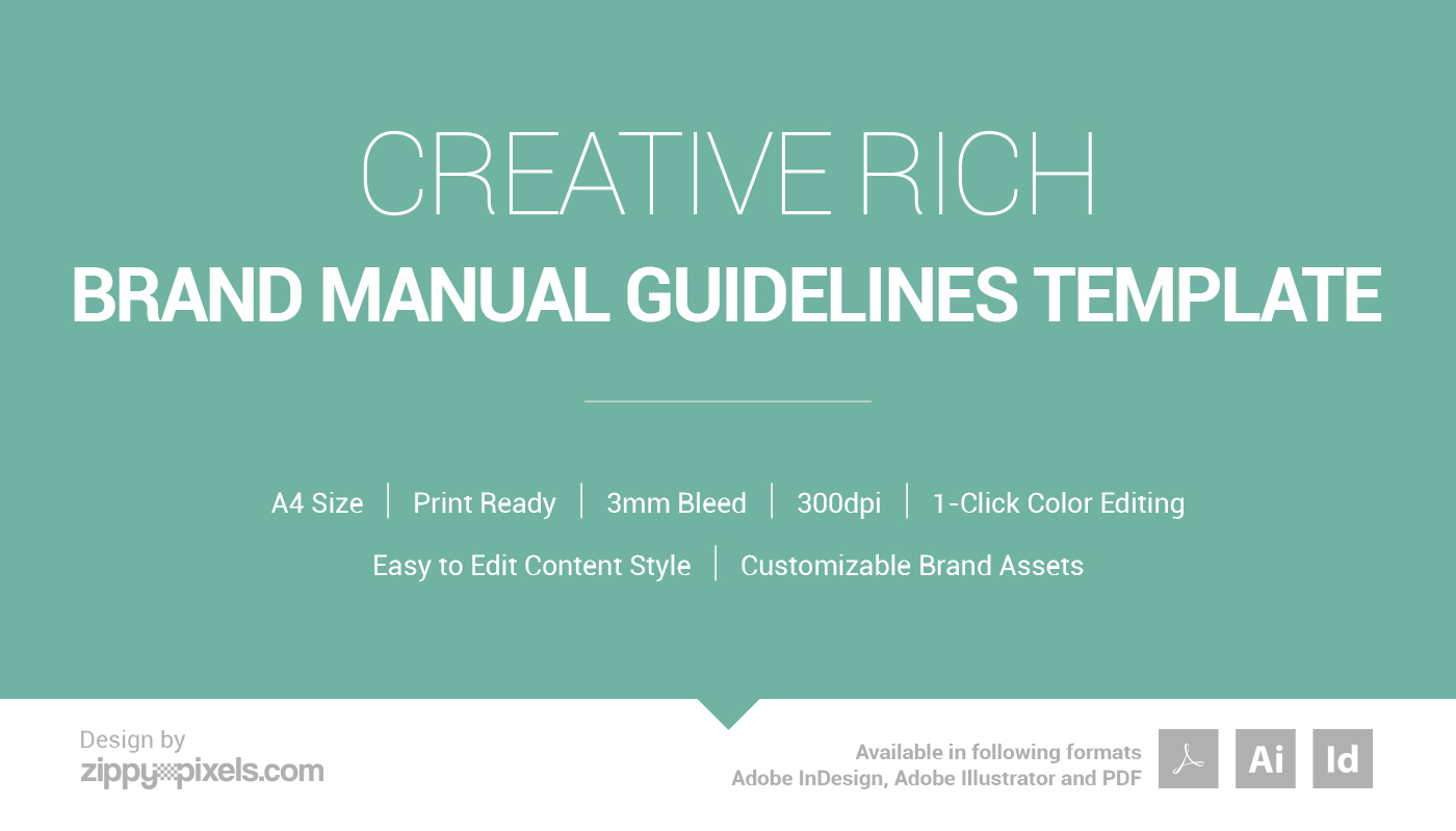 Creative Rich - Brand Manual Guidelines Template on Behance