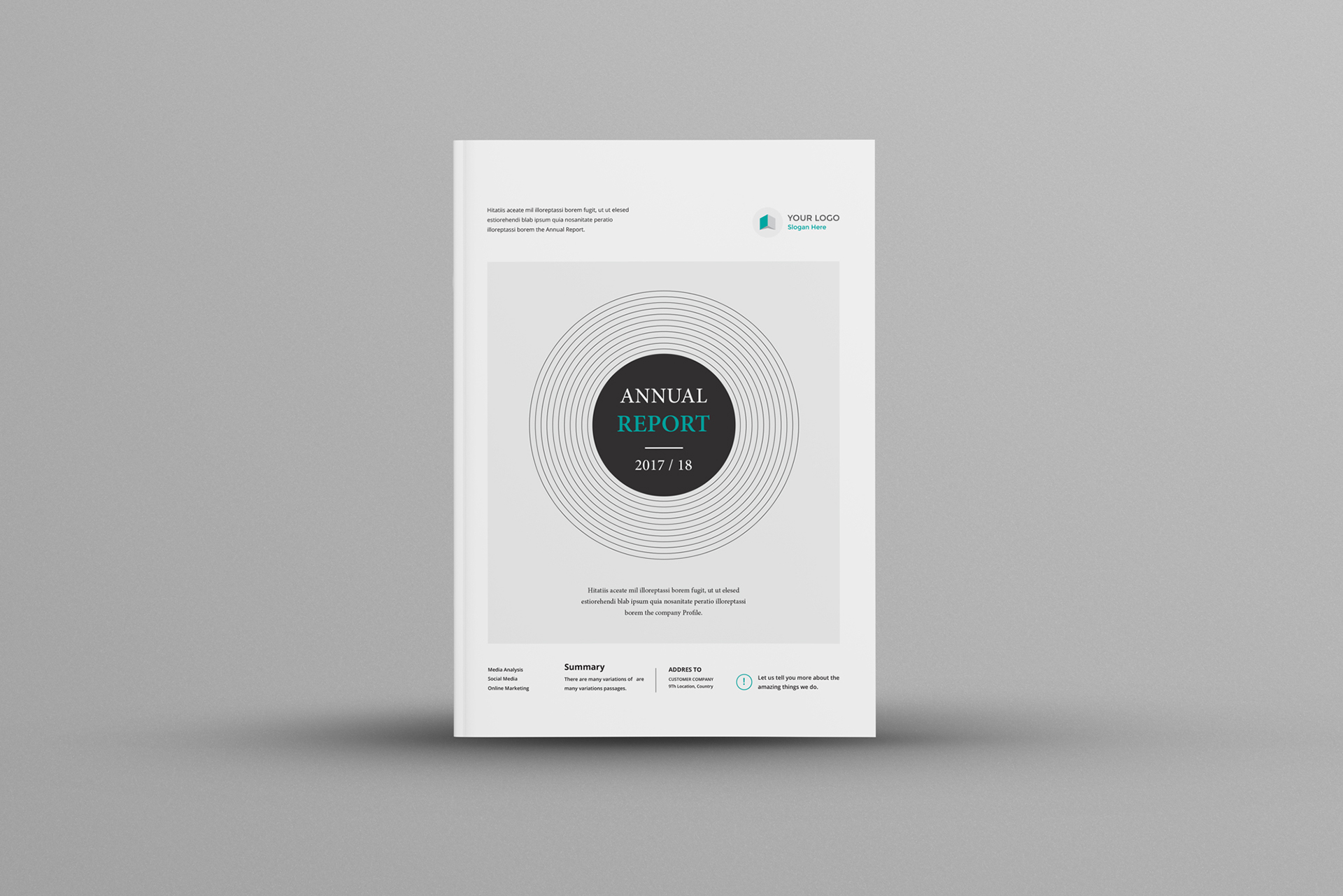 Annual Report A4 & Us Letter on Behance