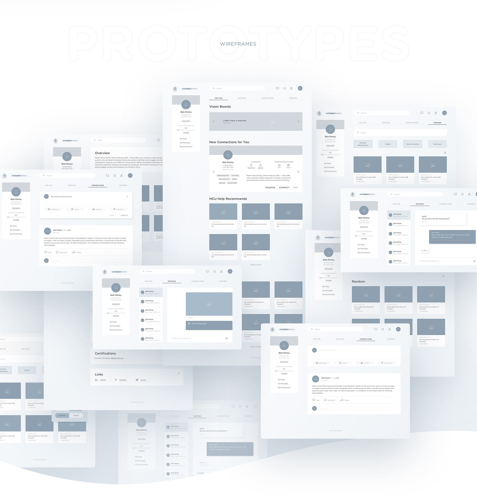 Web Design and UI/UX of Millennials, a social portal