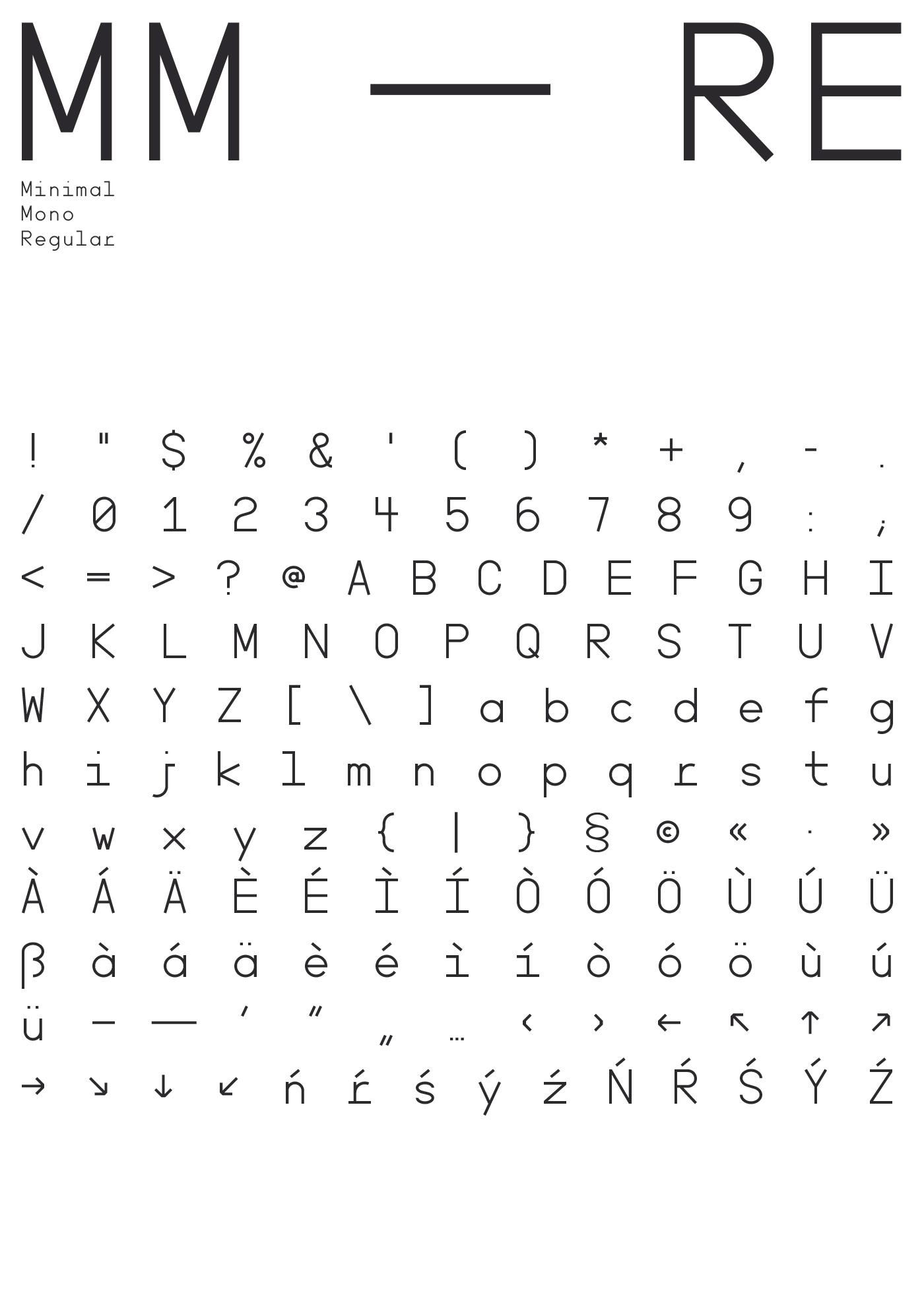 Minimal Mono — a free font on Behance