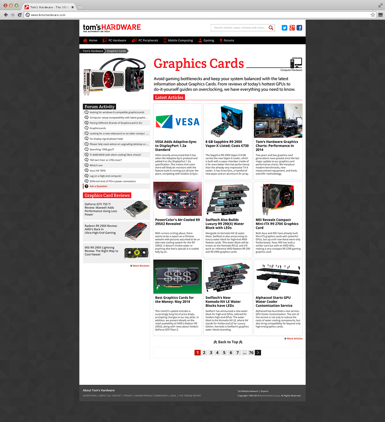 Toms hardware site redesign on behance solutioingenieria Images