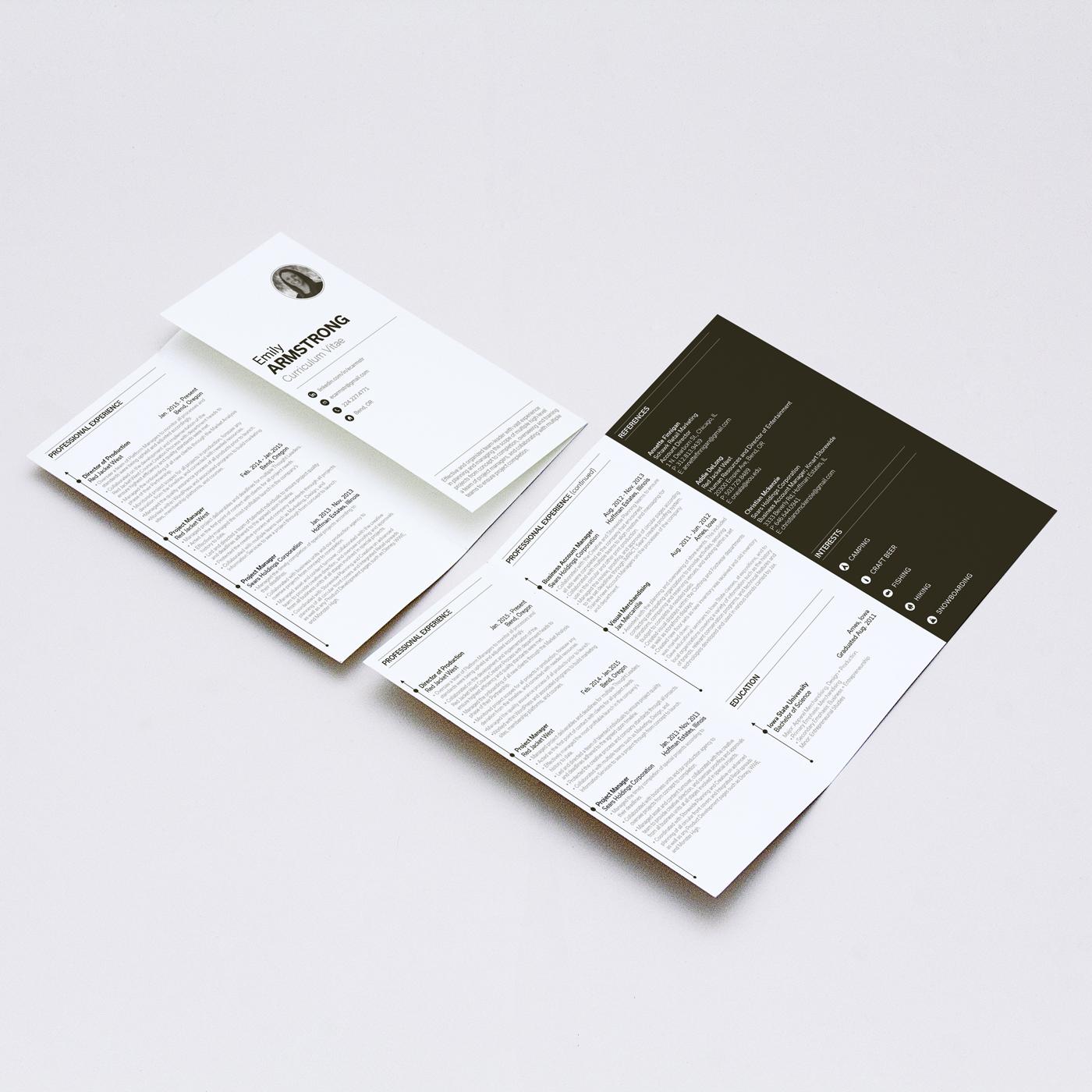 drifting timbers design co tri fold brochure resume
