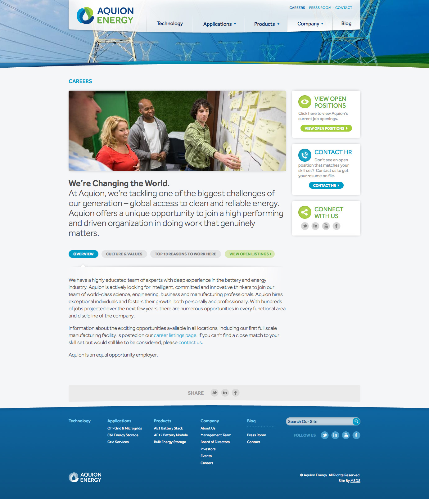 Aquion Energy Website and Branding on Behance