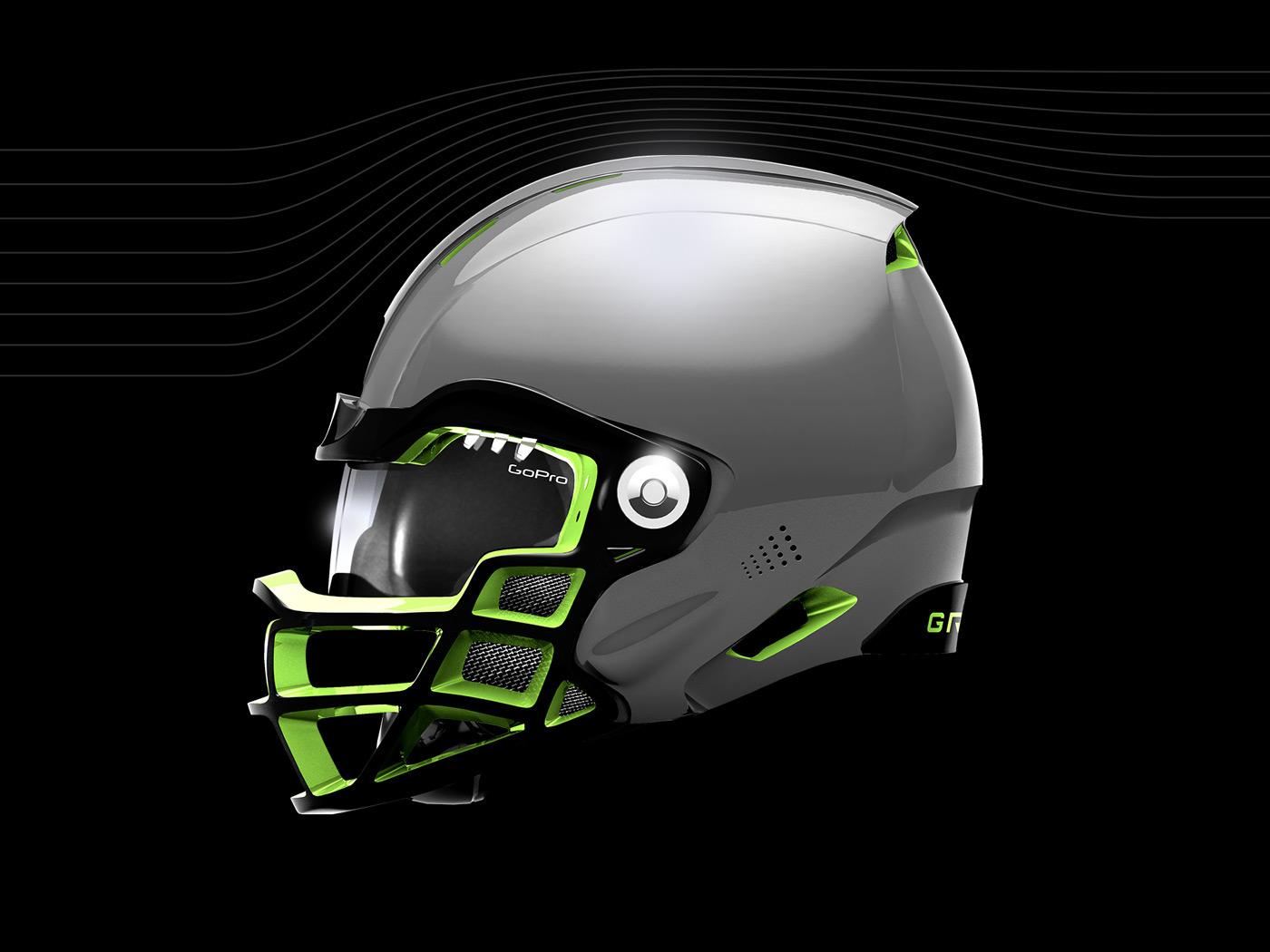af3e7457a0c Future Football Helmet Design Case Study on Behance