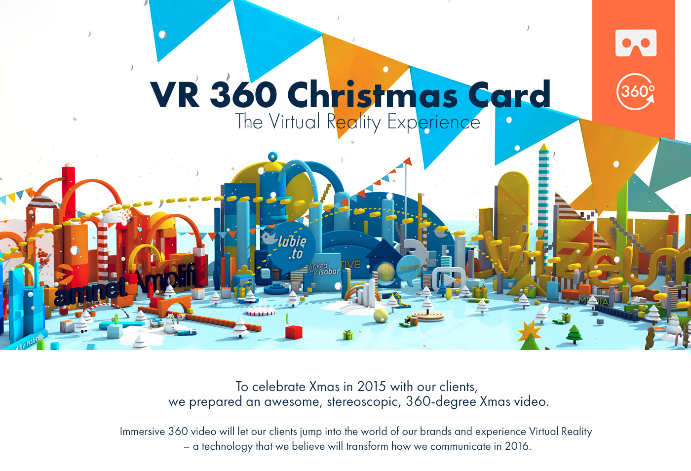 VR 360 Christmas Card on Behance