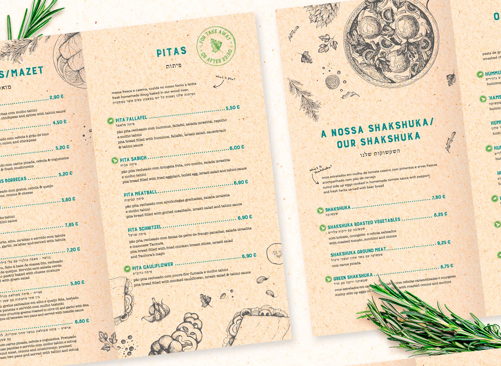 Tantura Restaurant Menu Business Cards Banners On Behance