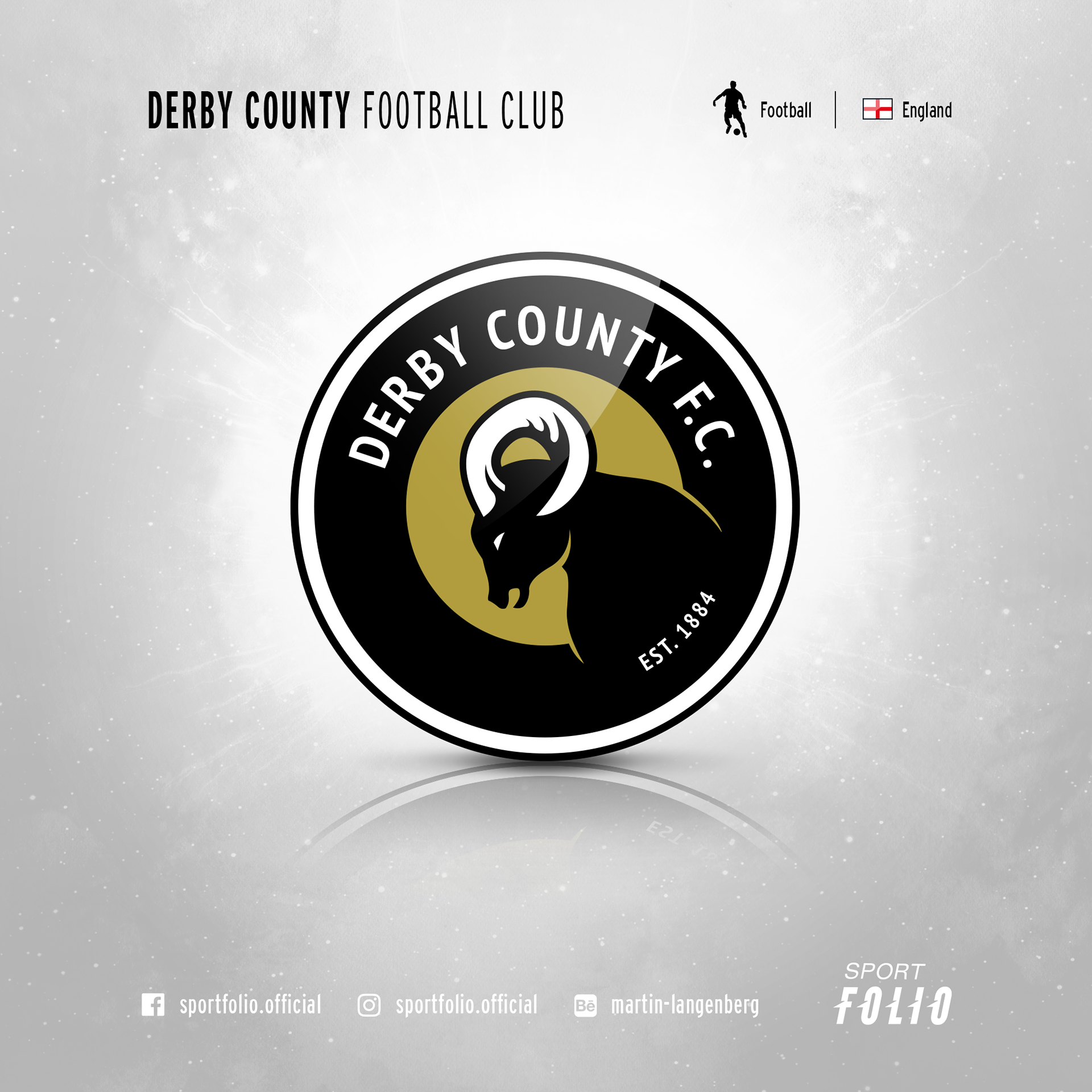 Derby County Fc Logo Redesign On Behance