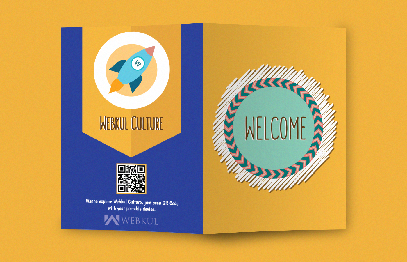 Webkul Culture - The Welcome Card on Behance