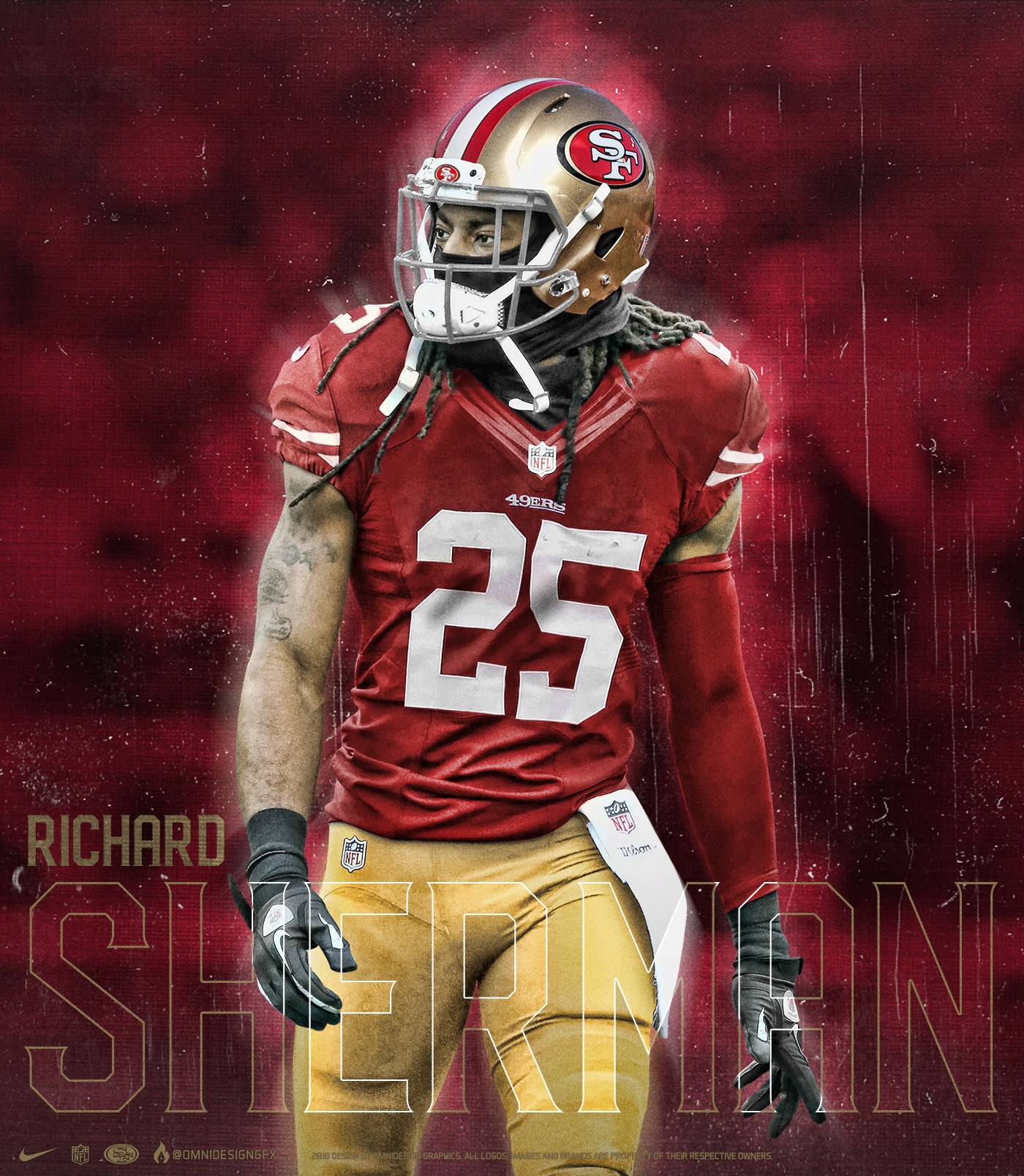 online retailer b9594 af420 Richard Sherman San Francisco 49ers Jersey Swap on Behance