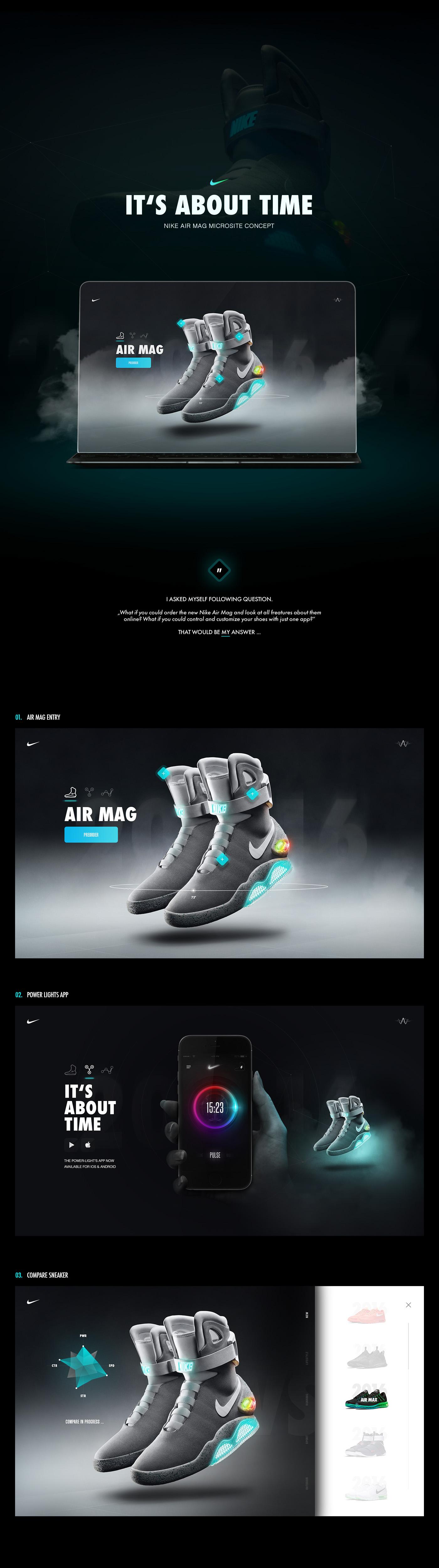 Nike Air Mag Microsite & App Concept