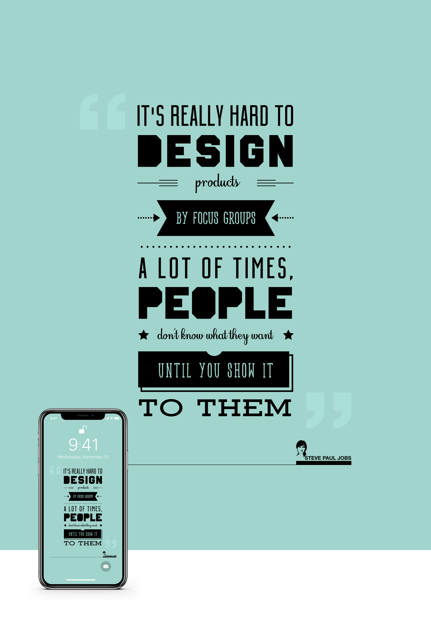 IPhone X Wallpaper - (Steve Jobs Quotes) Free Download on ...