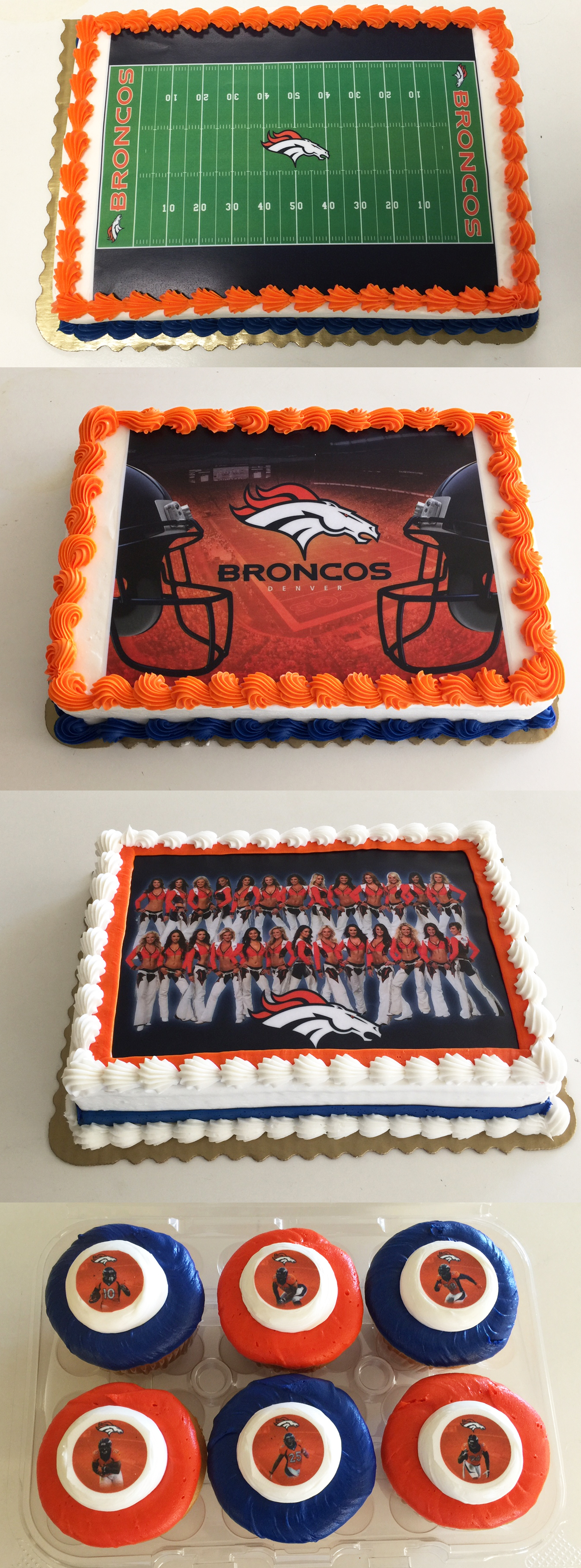Pleasing Denver Broncos And King Soopers Birthday Cakes On Behance Birthday Cards Printable Trancafe Filternl